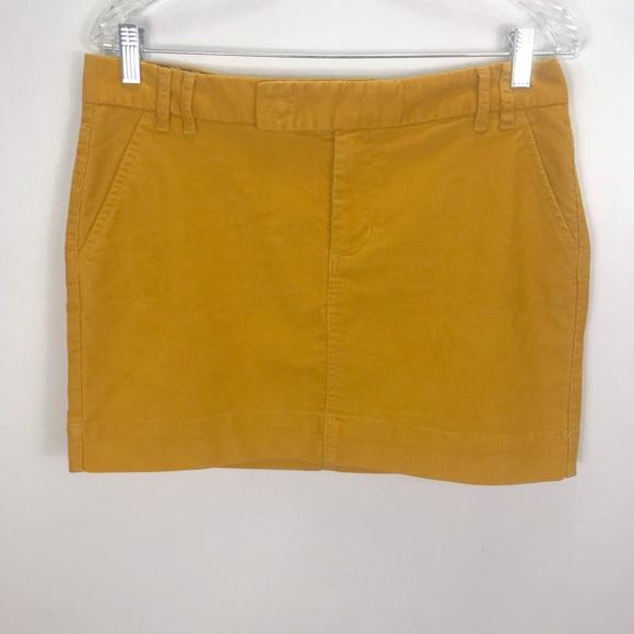 4c587450c GAP Dresses & Skirts - Gap Mustard Yellow Corduroy Mini Skirt Sz 10